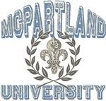 McPartland Family Name University T-shirts Gifts