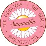 Samantha Princess Beauty Goddess T-shirts Gifts
