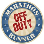 Off Duty Marathon Runner T-shirts Gifts