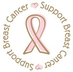 Support Breast Cancer Pink Ribbon T-shirts Gifts