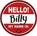 Hello My Name is Billy Tag T-shirts Gifts