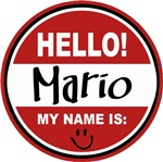 Hello My Name is Mario Tag T-shirts Gifts