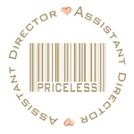 Assistant Director Priceless Bar Code T-shirts Gif