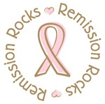 Pink Ribbon Remission Rocks T-shirts Gifts