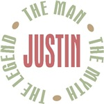 Justin the man the myth the legend T-shirts Gifts