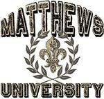 Matthews Last Name University Tees Gifts