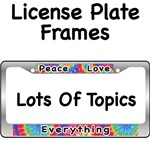 Peace Love License Plate Frames