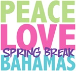 Peace Love Spring Break Bahamas Tees Gifts