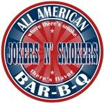 Jokers N' Smokers All American BBQ Tees GIfts