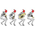 Christmas Brass Band Skeletons