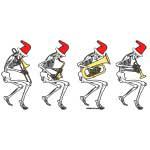 Christmas Brass Band Skeletons