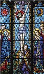 Jesus' Crucifixion Stained Glass