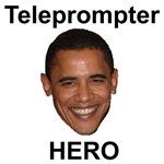 Barack Obama Teleprompter Hero