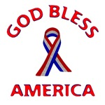 God Bless America Ribbon Design