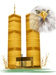 Gold Twin Towers n  Eagle