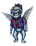 The Winged Monkeys from Frank Baum's The Wonderful Wizard of Oz embodies everything that is evil and fearful.  This cute anime-styled Flying Monkey is a perfect minion for the Wicked Witch of the West.