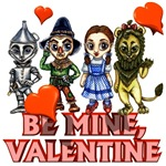 Now you can wish your loved ones to 'be mine,valentine' with this great Wizard of Oz themed valentines day design.  Dorothy Gale, the Tinman, the Cowardly Lion, and Scarecrow all wish your Wonderful Wizard of Oz fan to 'be mine, valentine'.