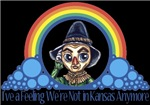 With all the colors of the rainbow, this Wonderful Wizard of Oz inspired design captures Scarecrow I've a feeling we're Not in Kansas Anymore.  The perfect gift for any Oz fan.