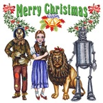 Merry Christmas from the Wizard of Oz Gang with Scarecrow, Dorothy Gale, Toto, the Cowardly Lion, and the Tin Woodsman.  A perfect gift for any Oz fan or L Frank Baum avid reader.
