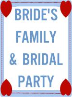 BRIDE'S FAMILY & ATTENDANTS