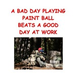 a funny paintball joke on gifts and t-shirts.