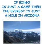 a funny bingo joke on gifts and t-shirts.