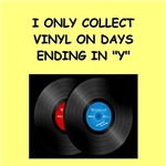 a funny record collecting joke on gifts and t-shir