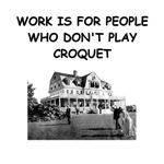 a funny croquet joke on gifts and t-shirts