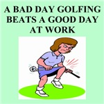 golf humor on gifts and t-shirts