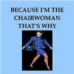 funny joke business chairwoman gifts t-shirts