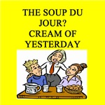 soup du jour food joke gifts t-shirts
