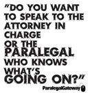 Paralegal In Charge [Text Black]