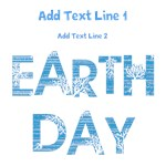 Personalized Blue Earth Day Shirts