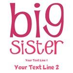 Personalized Big Sister Shirts