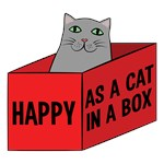 Happy As A Cat In A Box