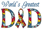 World's Greatest Dad Autism T-shirts