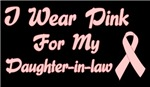 Breast Cancer Support Daughter In Law Shirts