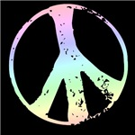 Pastel Peace Symbol T-shirts and Gifts ~ Pastel peace symbol t-shirts, peace buttons, magnets and a cool ornament. Trendy gear to help you promote peace.