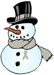 Christmas Snowman Lung Cancer Support Gifts