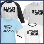 States For Obama T-shirts