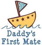 Daddy's First Mate Baby T-shirts