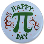 Cool Happy Pi Day Buttons
