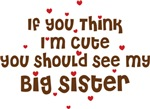 Cute Big Sister Baby Tees