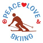 Peace Love Skiing T Shirts