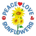 Peace Love Sunflowers Tees