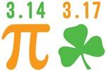 Pi Day 3.14 St Pats Day 3.17 Shirts