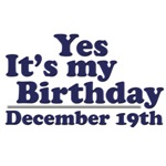 December 19th Birthday T-Shirts & Gifts