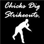 Chicks Dig Strikeouts
