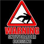 Warning: Snowboarder