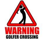 Warning: Golfer
